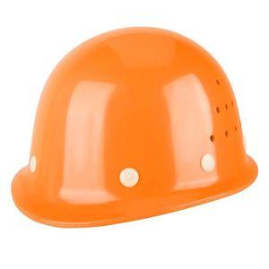 Casque de s/écurit/é pour casque de chantier Travailleur Casque de s/écurit/é /à bande r/éfl/échissante avec ventilation et jugulaire r/églable Casquette de protection pour chantier Orange