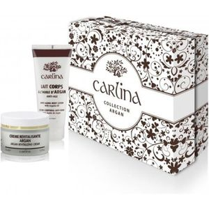 COFFRET CADEAU CORPS COFFRET CARLINA COLLECTION ARGAN CREME ET LAIT