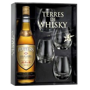 WHISKY BOURBON SCOTCH Terres de Whisky Powers Gold Label