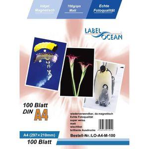 PAPIER PHOTO 100 Feuilles Papier Photo Magnétique A4 Matte 700g