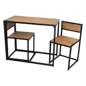 TABLE À MANGER COMPLÈTE Ensemble de salle à manger - table/chaises - compa