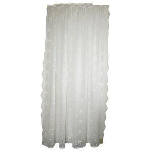 10 cm style shabby c Rideau Ballade blanc a passants 150 x 290 Blanc Mariclo