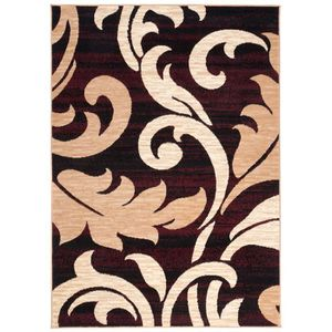 Tapis de salon beige marron