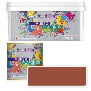 Peinture Murale Monocouche Couleur Cuivre 0 5litre Mat