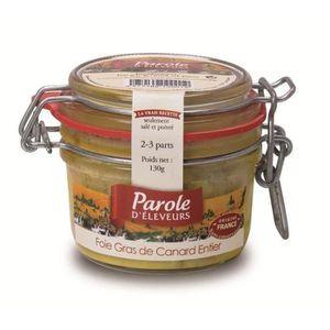 FOIE GRAS PAROLE D'ELEVEURS Foie Gras de Canard Entier 130g