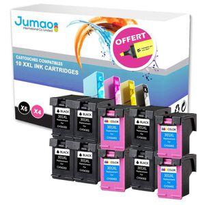 CARTOUCHE IMPRIMANTE Lot de 10 cartouches compatibles pour HP Officejet