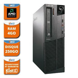 UNITÉ CENTRALE  ordinateur de bureau LENOVO M75 amd dual core 4go