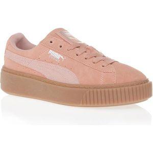 BASKET PUMA Baskets Suede Platform Gum - Femme - Rose