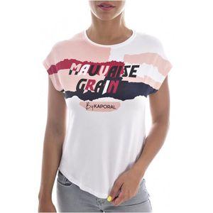 T-SHIRT Tee Shirt Fluide à Mesage Bouns  -  Kaporal