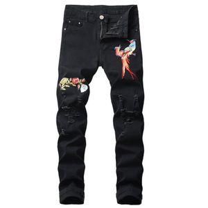 JEANS Jeans homme de marque luxe Jean finement brodé de