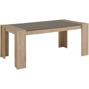 table a manger effet beton achat vente table a manger effet beton pas cher cdiscount. Black Bedroom Furniture Sets. Home Design Ideas