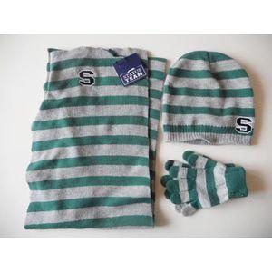 BONNET - CAGOULE Ensemble enfant bonnet + gants+echarpe  2-5 ans