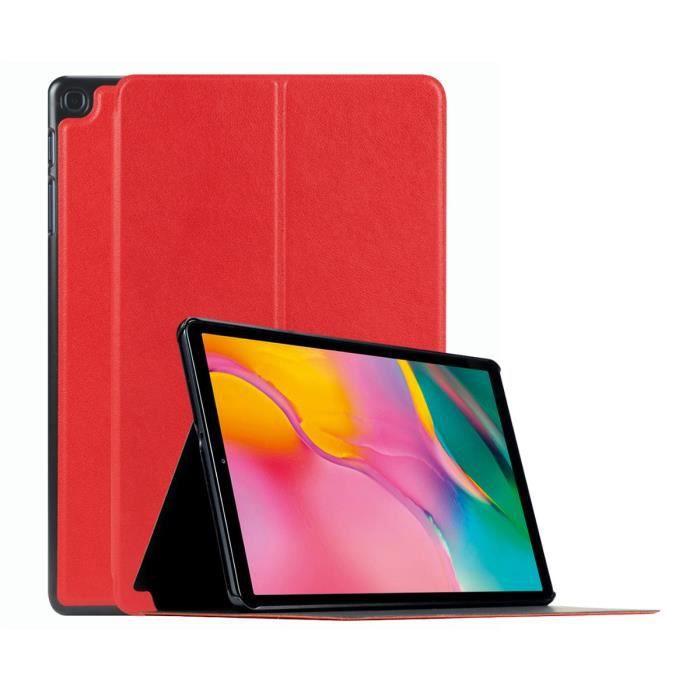 Mobilis Coque de protection Étui Folio pour Samsung Galaxy Tab A 2019 10,1'' Rouge