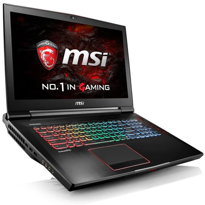 msi pc portable gamer gt73vr 6re 019fr 17 3 39 39 full hd. Black Bedroom Furniture Sets. Home Design Ideas