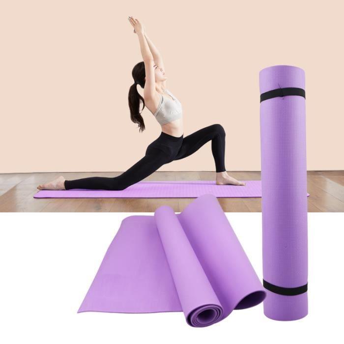 Tapis de sol en mousse épaisse EVA antidérapante, 3-6 mm,pour des exercices de yoga, sport, Pilates et gymnastique