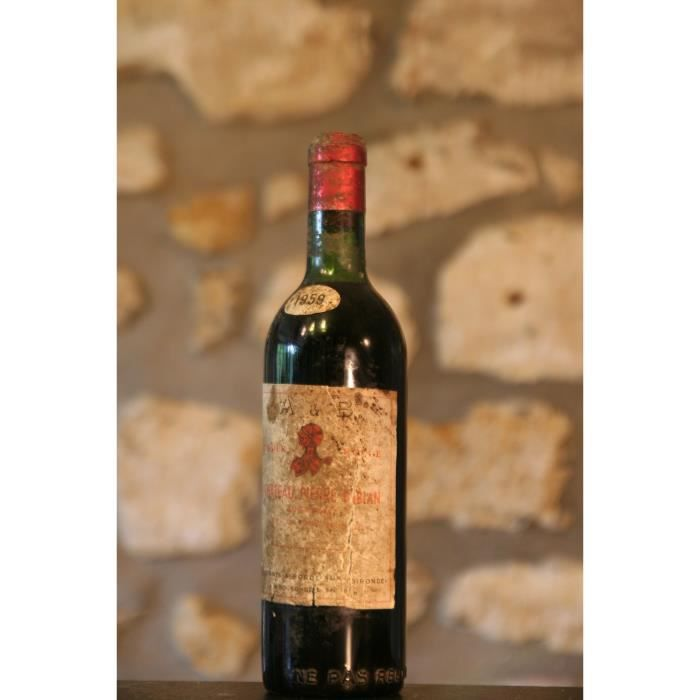Vin rouge, Château Pierre Bibian 1959 Rouge
