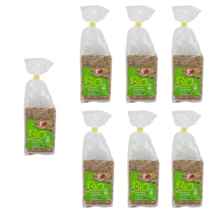 [Lot de 7] Crackers 3 graines Bio - 200g par paquet