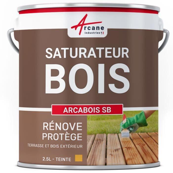 Saturateur bois ARCABOIS SB - Chêne doré (teinte jaune) - 2.5L (jusqu a 12.5m²)