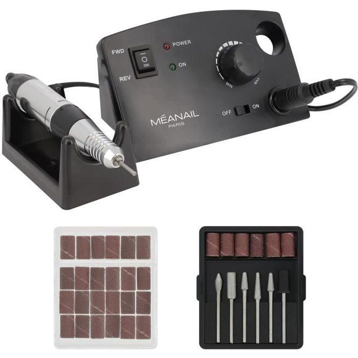 Ponceuse électrique Ongles Meanail® • Manucure & Pédicure • 6 embouts et 6 bandes de ponçage + 6 bandes de ponçage offertes