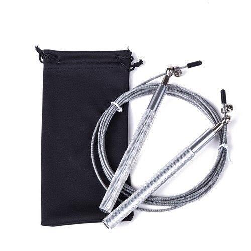 Accessoires Fitness - Musculation,Crossfit corde à sauter Ultra vitesse roulement à billes corde à sauter fil d'acier - Type Silver