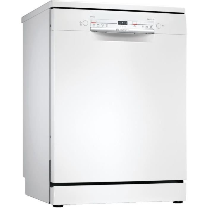 Lave-vaisselle pose libre BOSCH SGS2ITW12E Série 2 - 12 couverts - Moteur induction - L60cm - 48 dB - Blanc