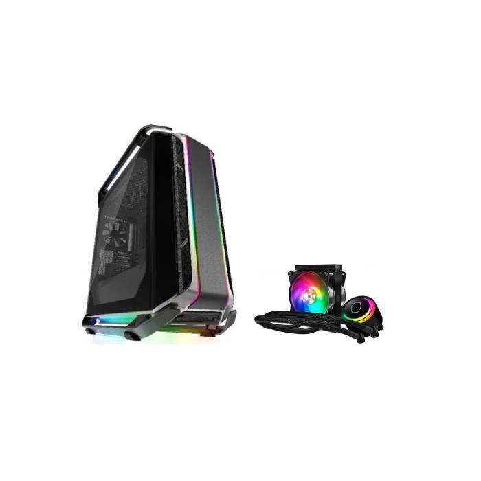 Pack Cooler Master Boîtier PC Cosmos C700M + Refroidissement ML120R RGB