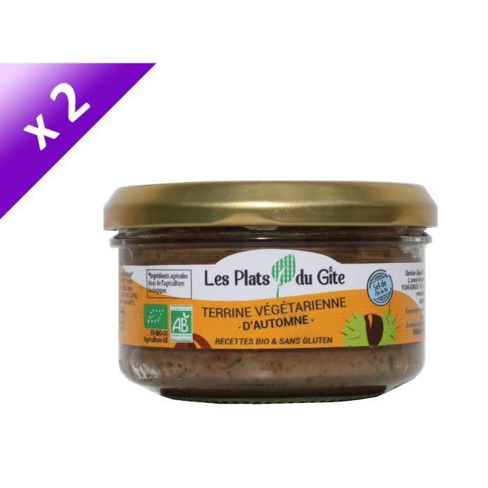[LOT DE 2] LES PLATS DU GITE Terrine Végétarienne d'Automne - Bio - Végan - 120 g