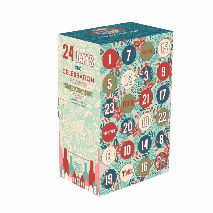 Calendrier de l'Avent Vin - 24 bouteilles - 18,7 et 20 cl