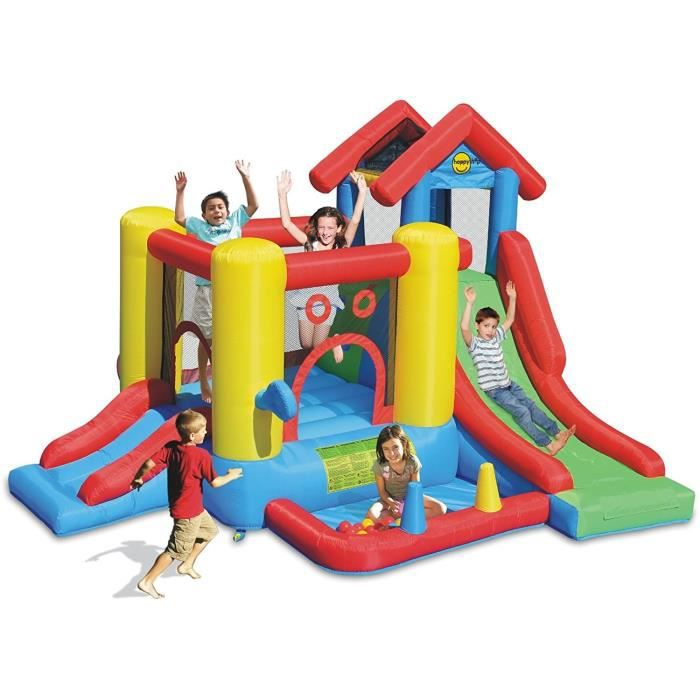JURATOYS Chateau / Aire De Jeux Gonflable Play House 7 En 1