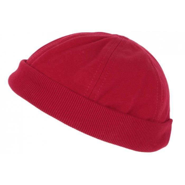 Bonnet Docker Rouge en Coton Homme et Femme Tendance Rackham - Taille unique - Rouge