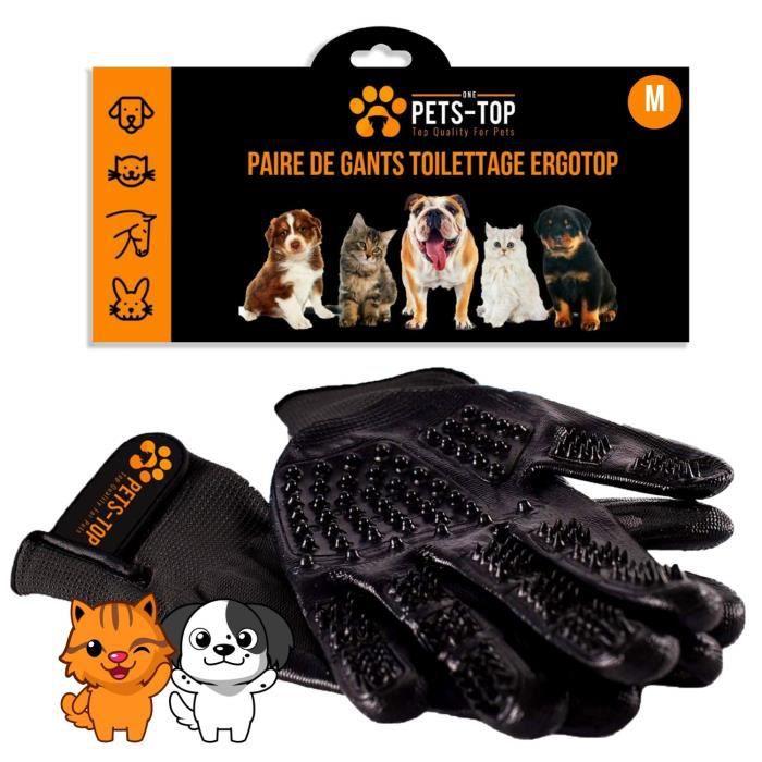 Gant de Brossage Pour Chat Chien Toilettage Efficace Anti-Poils Epilateur Animaux de Compagnie Brosse Peigne Massage Cheval