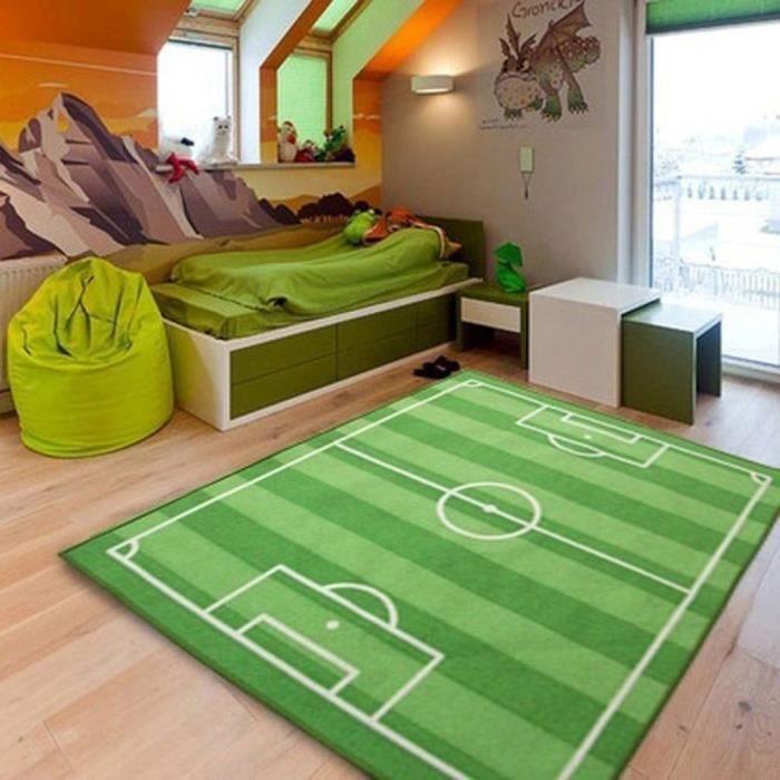 Couverture 800X1200MM Tapis de sol football antidérapant motif terrain de football pour jeunes enfant chambre décor Play Mat Pad