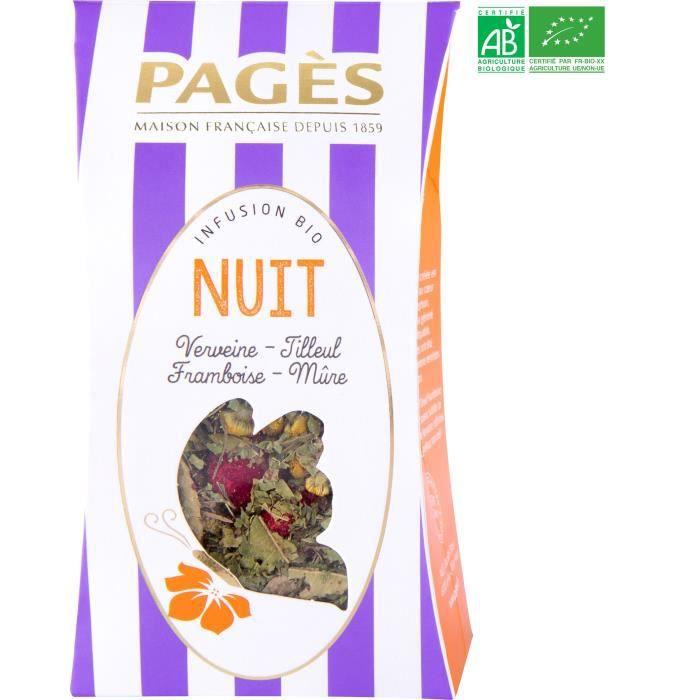 PAGES Infusion Nuit - Verveine, Tilleul, Framboise, Mûre - Vrac - Bio