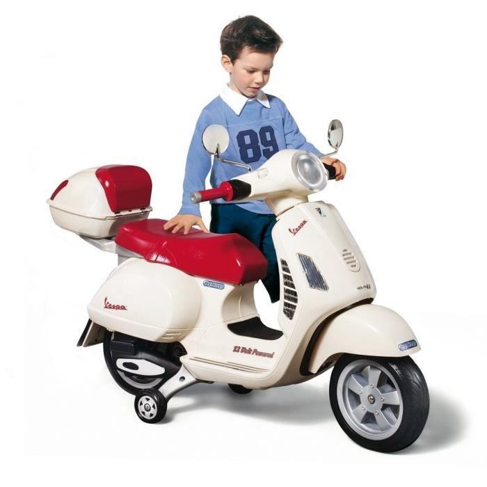 PEG PEREGO Vespa Enfant Scooter Electrique Enfant 12 Volts