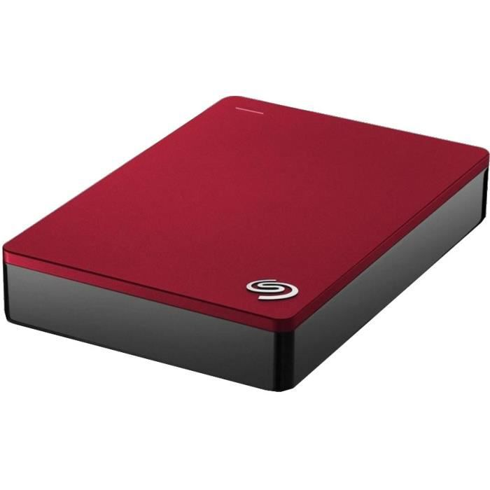 Seagate Disque dur Externe Backup Plus Stdr4000902 4 To Usb 3.0 rouge
