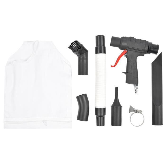 Sonew Pistolet à air comprimé Pistolet à vide pneumatique Aspirateur à soufflage d'air multifonctionnel Connecteur d'entrée 1/4