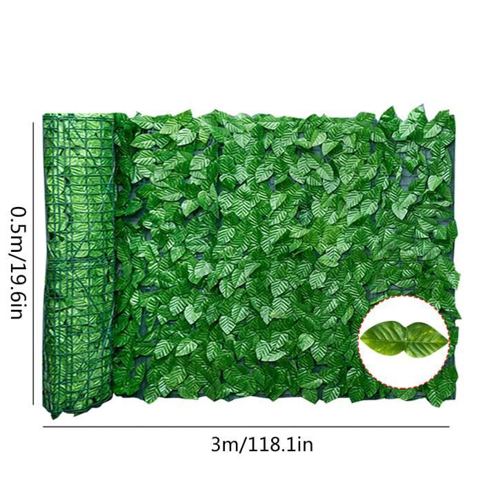 Feuilles artificielles UV fondu protégé intimité couverture mur aménagement paysager pour intérieur extérieur décor(B#)