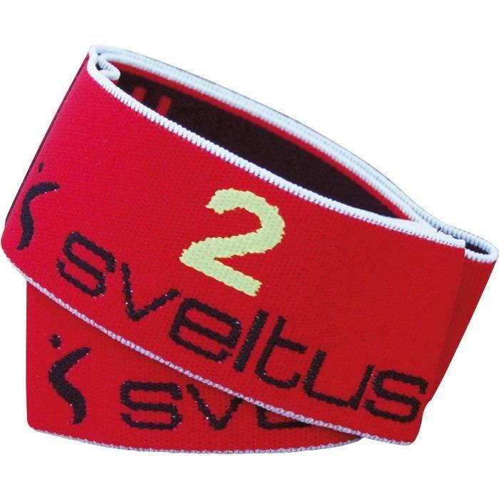 SVELTUS Elastiband - 3 forces - Rouge et noir