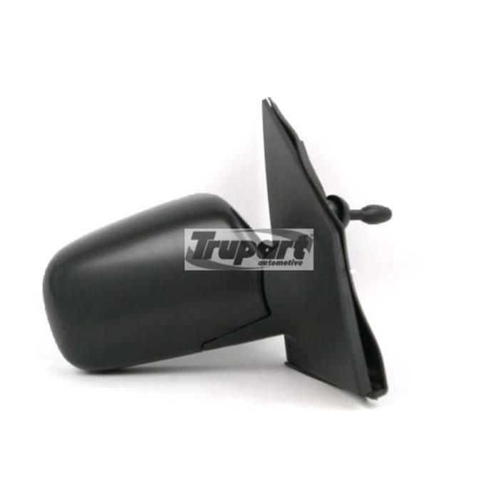 Rétroviseur extérieur droit manuel TOYOTA YARIS I Phase 1, 1999-2003, noir, Neuf.
