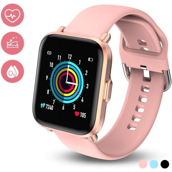 Smartwatch Smart Watch Femmes Hommes Enfant 18 Modes Sportifs Nage Sommeil REM SpO2 10 Jours Autonomie 50M Bracelet Étanche Activité