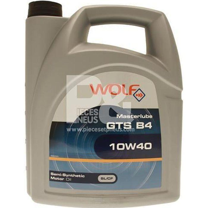 Bidon 5 litres d'huile 10w40 Wolf 8304019