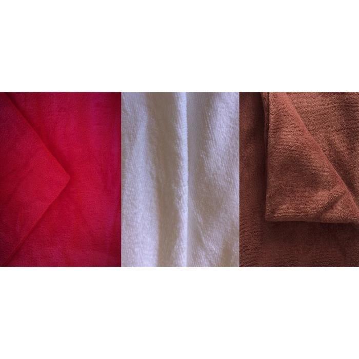 Chocolat Tortue De Jade Ensemble en flanelle 3 pi/èces coton Deluxe pour table de massage