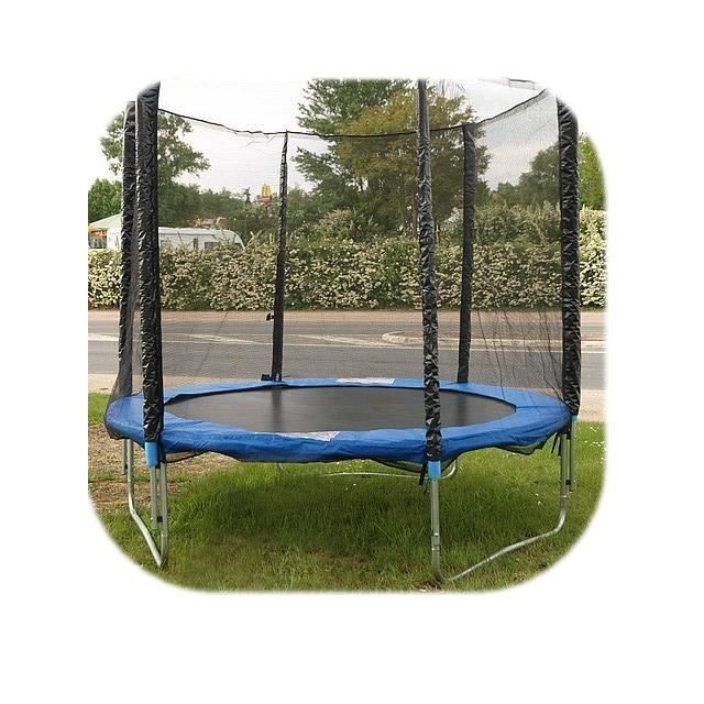 trampoline avec filet protection out side diametre prix pas cher cdiscount. Black Bedroom Furniture Sets. Home Design Ideas