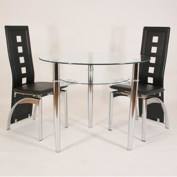 table ronde en verre jersey 90 cm 3 pieds avec tablette achat vente table d 39 appoint table. Black Bedroom Furniture Sets. Home Design Ideas