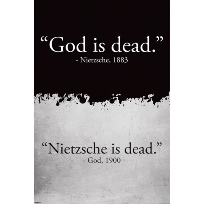god is dead poster affiche un joli emballage cadeau achat vente affiche cdiscount. Black Bedroom Furniture Sets. Home Design Ideas