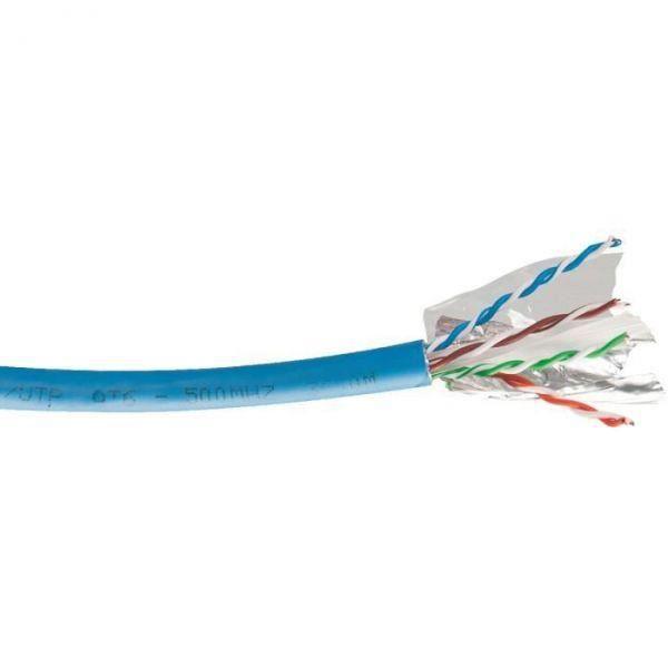 C/âble en PVC massif Cat 6/Gris 30/m Bobine 100/% cuivre donn/ées r/éseau Ethernet