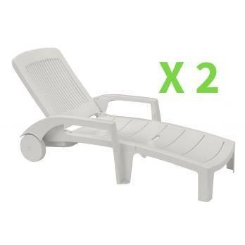 Grosfillex chaise lounge monte carlo chaise lounge set of for Chaise de soleil longue
