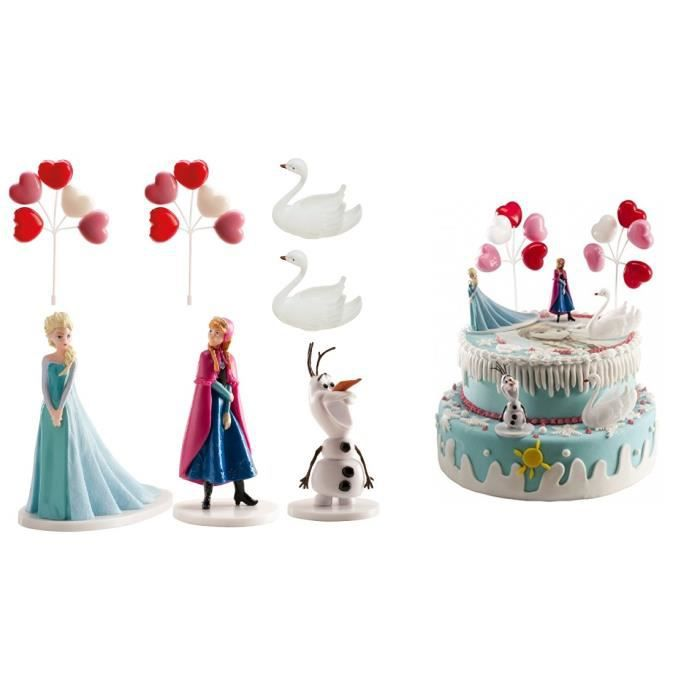 kit decoration gateau reine des neiges. Black Bedroom Furniture Sets. Home Design Ideas
