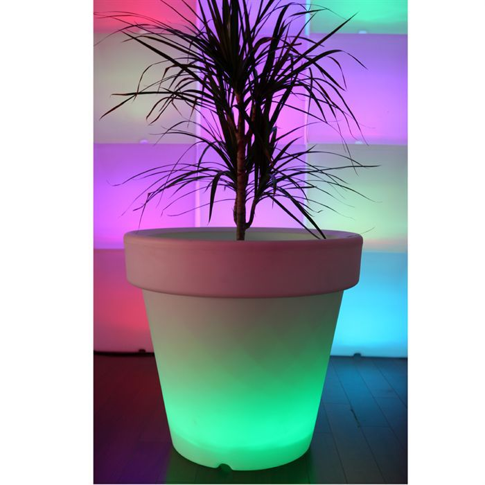 pot de fleur led on haut de 60cm achat vente pot de fleur led on poly thyl ne cdiscount. Black Bedroom Furniture Sets. Home Design Ideas