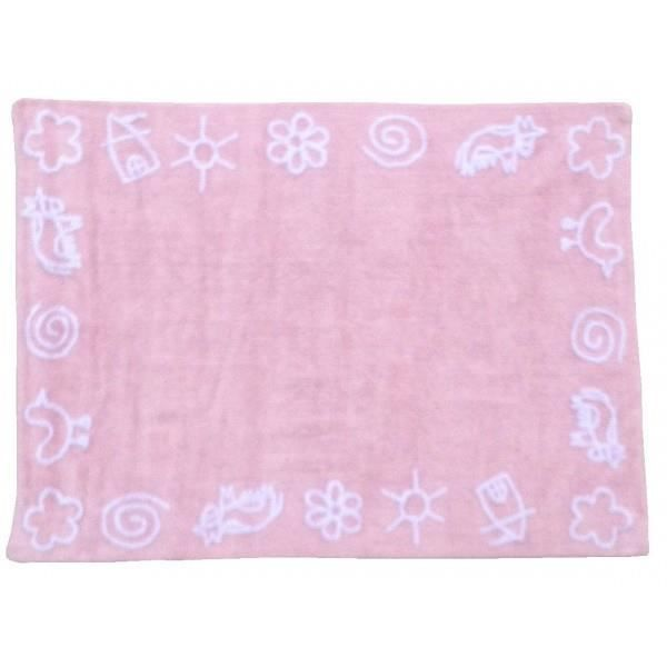 tapis de sol enfant 120x160 cm rose dessin enfant achat vente tapis cdiscount. Black Bedroom Furniture Sets. Home Design Ideas